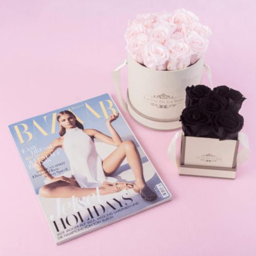 Rosenshop La Vie De La Rose: Infinity Rosen konserviert in schwarz und rosa